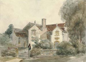 Peter De Wint - Manor House et l église, Lytes Cary, Somerset