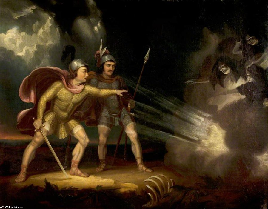 Macbeth de Samuel John Egbert Jones (1797-1861, United Kingdom) | Reproductions De Qualité Musée | WahooArt.com
