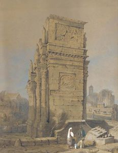 Samuel Prout - l arc de constantin , Rome , de l South-east