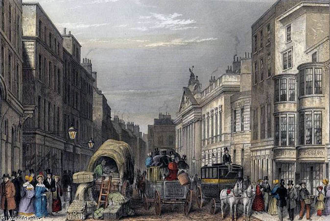 leadenhall street j hopkins de Thomas Hosmer Shepherd (1792-1864, United Kingdom)