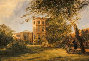 William Collins - vue d Monsieur David Wilkie's maison dans Presbytère Lieu , Kensington
