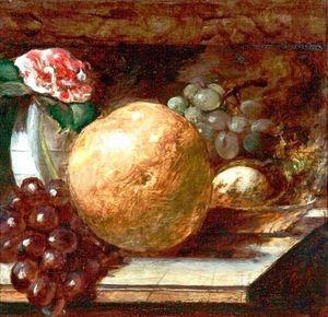 William Etty - fruits pamplemousse  et  les oranges