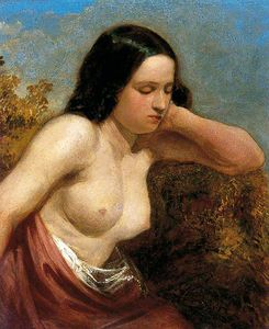 William Etty - chef et `shoulders` d'un femme