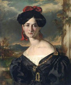William Etty - louisa vaughan , Née Rouleaux