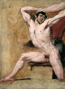 William Etty - nu masculin -