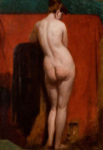 William Etty - debout nu féminin -