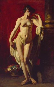 William Etty - debout nu féminin