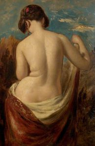 William Etty - etude d un Half-nude Figure