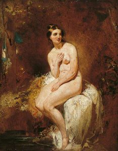 William Etty - le baigneur -