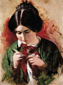 William Etty - Le Crochet-worker ( marie ann purdon )