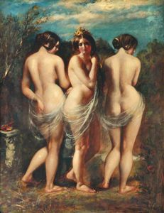 Achat Reproductions D'art | le trois grâces de William Etty (1787-1849, United Kingdom) | WahooArt.com