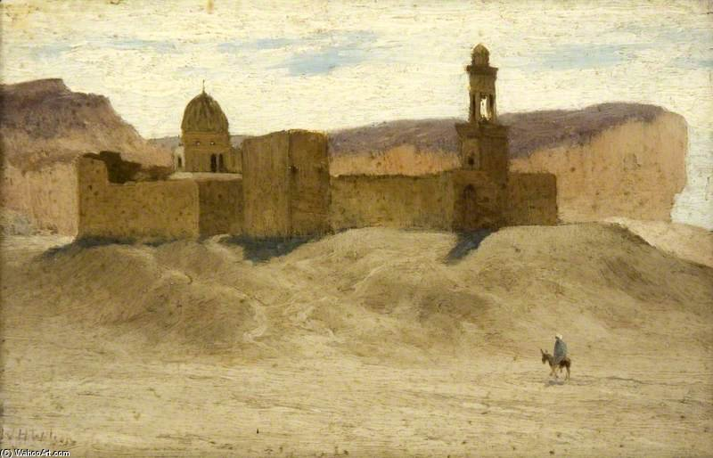 Une mosquée Desert de William Heath Wilson (1849-1927, United Kingdom) | Reproductions D'art William Heath Wilson | WahooArt.com
