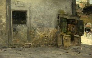 Achat Reproductions De Peintures | Un coin pittoresque de William Heath Wilson (1849-1927, United Kingdom) | WahooArt.com