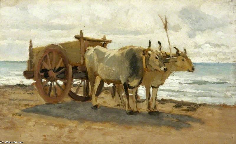 Bullocks dessin d`un Chariot de William Heath Wilson (1849-1927, United Kingdom) | Reproduction Peinture | WahooArt.com