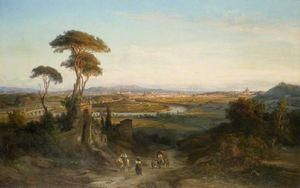 George Edwards Hering - Une vue lointaine de rome