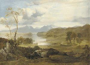 Horatio Mcculloch - Vue du Loch Fad, île de Bute, Arran Avec In The Distance