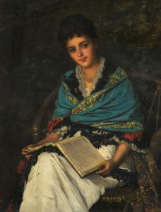 William Oliver - portrait d-un dame