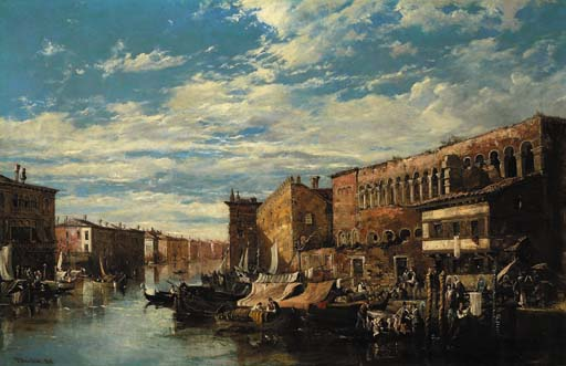Le Grand Canal venise  de William Oliver (1805-1853, United Kingdom) | WahooArt.com