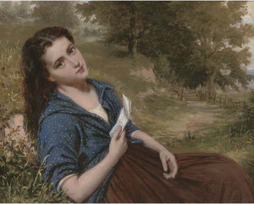 le amour lettre -   de William Oliver (1805-1853, United Kingdom) | WahooArt.com