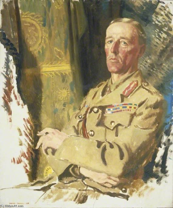 le brigadier-général le très honorable john edward bernard seely de William Newenham Montague Orpen (1878-1931, Ireland)