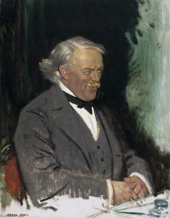 david lloyd george - de William Newenham Montague Orpen (1878-1931, Ireland)