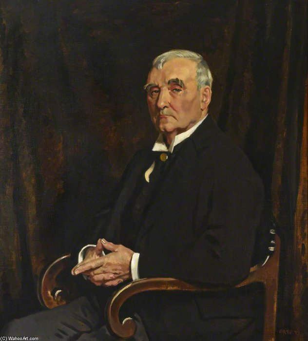 david lloyd roberts de William Newenham Montague Orpen (1878-1931, Ireland)