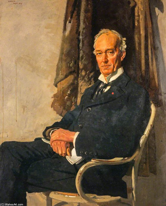 George Allardice, 1er Baron Riddell, de Walton Heath, Journal propriétaire et Diarist de William Newenham Montague Orpen (1878-1931, Ireland)