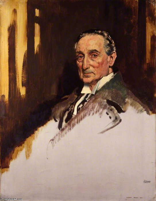 Rufus Isaacs, 1er marquis de lecture de William Newenham Montague Orpen (1878-1931, Ireland)