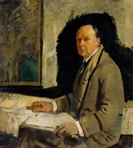 William Newenham Montague Orpen - étudier pour un portrait of leonard stokes