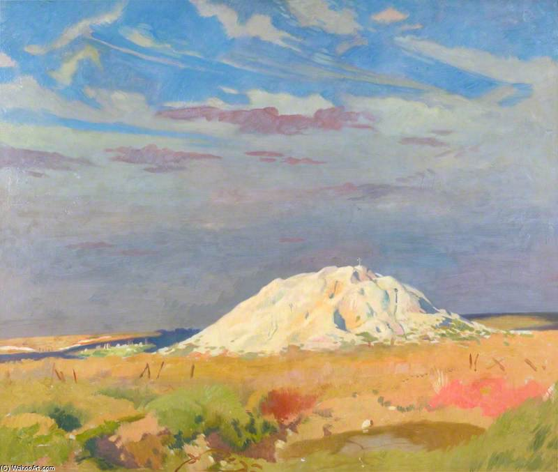 la butte de warlencourt de William Newenham Montague Orpen (1878-1931, Ireland)