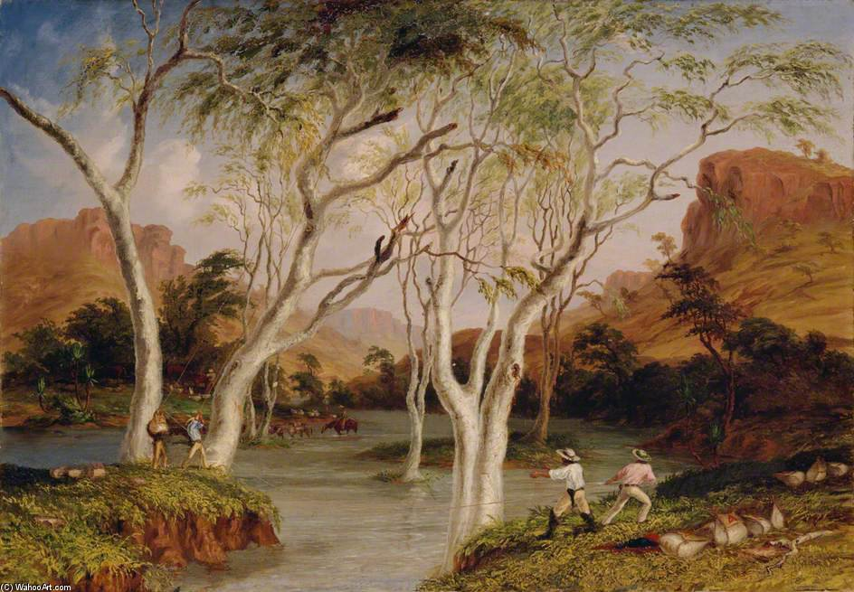 Incident dans le au nord Ouest expedition australienne de Thomas Baines (1820-1875, United Kingdom)