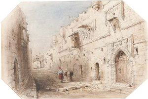William Henry Bartlett - rue knight , Rhodes