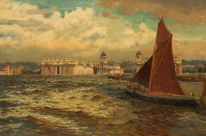 William Henry Bartlett - off greenwich , Londres