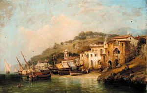 William Wyld - Sorrento, près de Naples