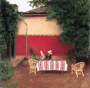 Karoly Ferenczy - rouge mur
