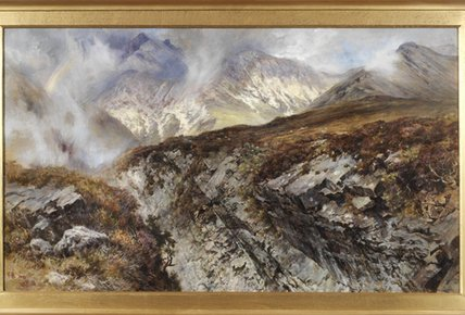 Sgurr Nan Guillean, Isle Of Skye de Keeley Halswelle (1832-1891, United Kingdom) | Reproductions De Qualité Musée | WahooArt.com