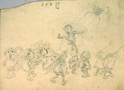 carnet de croquis pour l 'child's Dream' - ( 16 ) de Keeley Halswelle (1832-1891, United Kingdom)