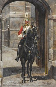 Harry Payne - 1ère Life Guards Sur la Garde du Roi, Whitehall