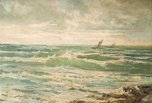 Henry Hadfield Cubley - Le Incoming Tide
