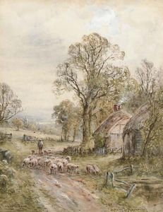 Henry John Kinnaird - A Lane Sussex; A Country Lane, Perth