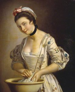 Henry Robert Morland - Une Lady's pucelle savonnage Lin