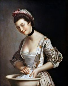 Henry Robert Morland - Lady's pucelle savonnage Lin