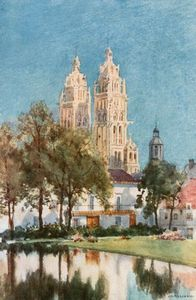 Achat Copie Tableau : St Gatieu, Tours de Herbert Menzies Marshall (1841-1913, United Kingdom) | WahooArt.com