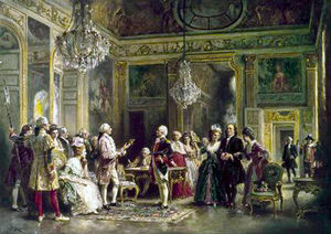 Jean Leon Gerome Ferris - john paul jones et benjamin Franklin au Louis XVI's Cour