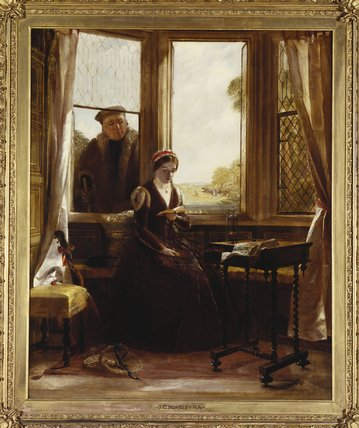 lady jane Gris et roger ascham de John Callcott Horsley (1817-1903, United Kingdom)