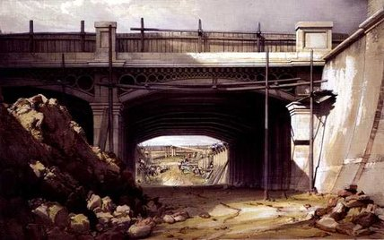 Hampstead Road Bridge de John Cooke Bourne (1814-1896, United Kingdom)