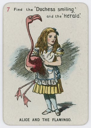 Alice et le Flamant de John Tenniel (1820-1914, United Kingdom)