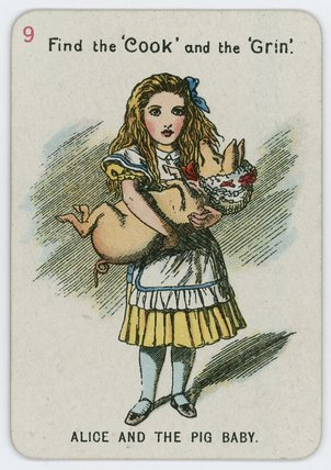 ALICE et le pig bébé de John Tenniel (1820-1914, United Kingdom)