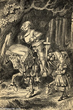 Alice et le blanc chevalier de John Tenniel (1820-1914, United Kingdom)