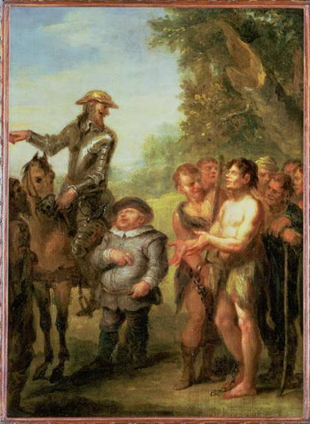 Don Quichotte libère les galériens, De Don Quichotte de Cervantès de John Vanderbank (1694-1739, United Kingdom)